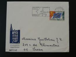 Flamme Concordante Sur Lettre 10 Ans Parlement Européen Strasbourg Conseil De L'Europe 1968 - Lettres & Documents