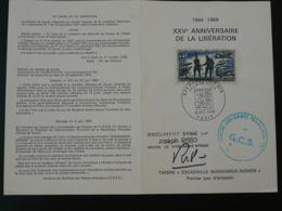 Encart FDC Folder Libération Normandie Niemen Signé Par Le Vétéran Joseph Risso 1969 - Guerra De 1939-45
