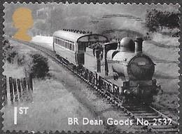GB  - Locomotive - Adhésif -  Y&T N° 3530 - Oblitéré - 1952-.... (Elizabeth II)