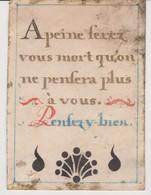 Image Pieuse Sur Parchemin 18/19e - Religione & Esoterismo