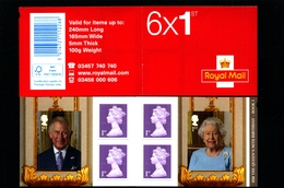 GREAT BRITAIN - SELF-ADHESIVE BOOKLET 6 X 1st   QUEEN'S  90th BOOK 1  MINT NH   SG PM 50 - Libretti