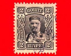 MONTENEGRO - Usato - 1907 - Principe Nicola I - Prince Nicholas I - 2 - Montenegro