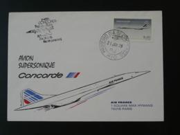 Lettre Premier Vol First Flight Cover Rio De Janeiro - Paris Concorde Air France 1976 - Brésil