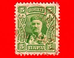 MONTENEGRO - Usato - 1907 - Principe Nicola I - Prince Nicholas I - 5 - Montenegro