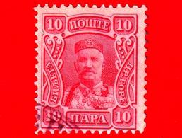 MONTENEGRO - Usato - 1907 - Principe Nicola I - Prince Nicholas I - 10 - Montenegro