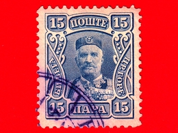 MONTENEGRO - Usato - 1907 - Principe Nicola I - Prince Nicholas I - 15 - Montenegro