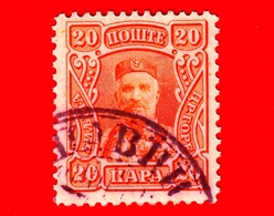 MONTENEGRO - Usato - 1907 - Principe Nicola I - Prince Nicholas I - 20 - Montenegro