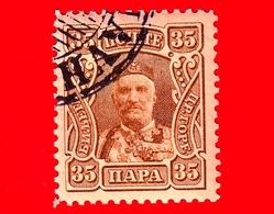 MONTENEGRO - Usato - 1907 - Principe Nicola I - Prince Nicholas I - 35 - Montenegro