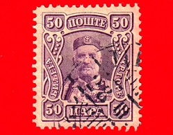 MONTENEGRO - Usato - 1907 - Principe Nicola I - Prince Nicholas I - 50 - Montenegro