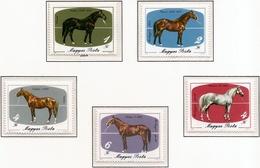 Hungria. Hungary. 1985. Mi 3766 / 70. Horses. Mezohegyes Stud Farm Bicent. - Hungría
