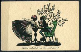 "CPSM Color Wohlgemuth Künstlerkarte Silhouette German Empires Berlin 1934 ""Dorle Jacob-3,Durst-No.2101"" 1 AK Used - Ansichtskarten"