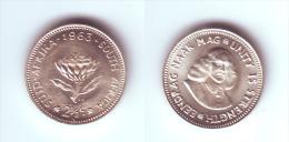 South Africa 2 1/2 Cents 1963 - Afrique Du Sud
