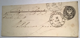 Russia 1879 Postal Stationery Envelope 7 Kop Grey RARE SIZE ST PETERSBURG 1884 (Russie Ganzsache Cover Russland - 1857-1916 Imperium