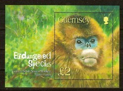Guernsey Guernesey 2004 Yvertn° Bloc 53 *** MNH Cote 10,00 Euro Faune Singe Apen Monkey - Guernesey