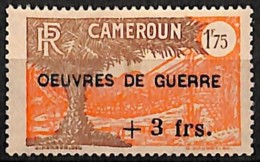 [827679]Cameroun 1940 - N° 234, +3F/1F75, OEUVRES DE GUERRE, Colonies - Cameroun (1915-1959)