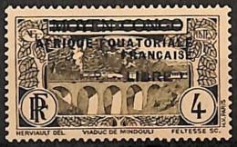 [827750]Afrique Equatoriale Française (AEF) 1940 - N° 102, LIBRE (noir) Sur 4c Brun (N° 3), Colonies - A.E.F. (1936-1958)