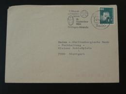 Flamme Sur Lettre Postmark On Cover Bourse Minéraux Fossiles Minerals Fossil Gottingen Allemagne Germany 1984 - Géologie