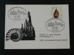 Carte Souvenir Card Géologie Geology Day Minéraux Fossiles Minerals Fossil Frankfurt Allemagne Germany 1987 - Geology