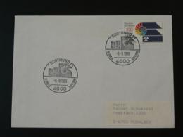 Oblitération Sur Lettre Postmark On Cover Géologie Fossile Fossil Coquillage Shell Dortmund Allemagne 1989 - Géologie