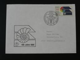 Oblitération Sur Lettre Postmark On Cover Géologie Fossile Fossil Coquillage Shell Bonn Allemagne 1989 - Géologie