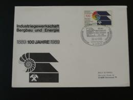 Oblitération Sur Lettre Postmark On Cover Géologie Fossile Fossil Coquillage Shell Recklinghausen Allemagne 1989 - Géologie