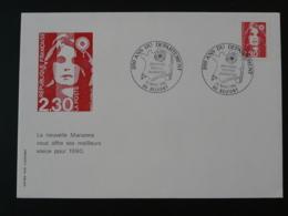 Lettre Cover Marianne De Briat 200 And Du Département De Belfort 1990 - 1989-96 Marianne Du Bicentenaire