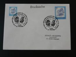 Obliteration Sur Lettre Postmark On Cover Minéraux Fossiles Minerals Fossil Insecte St Polten Autriche Austria 1994 - Minerals