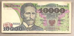 Polonia - Banconota Circolata Da 10.000 Zloty P-151a - 1987 - Polonia