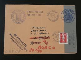 Lettre Transportée Par Kyrnair Grève Postale Bastia Corse 1995 - Marcophilie (Lettres)