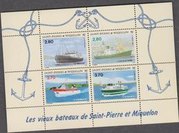 SAINT PIERRE ET MIQUELON 1 Bloc Feuillet Neuf Xx N° YT BF 4 - 1994 - Vieux Bateaux De St Pierre - Barcos