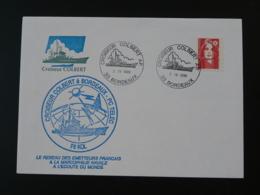 Lettre Commemorative Cover Croiseur Colbert Marcophilie Navale Bordeaux 1996 - Postmark Collection (Covers)