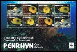 Penrhyn 2017 Micheln° 829-832 *** MNH Feuillet 2 Séries Faune WWF Poissons Vissen Fish - Penrhyn