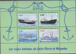 SAINT PIERRE ET MIQUELON 1 Bloc Feuillet Neuf Xx N° YT BF 5 - 1996 Vieux Bateaux De St Pierre - Barcos