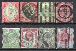GB 1887-1911: 4 Used Items Jubilee Issue And 4 Used Items EVII, See Description And Scan      O - Ohne Zuordnung