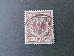 DR Nr. 50d, 1889, Gestempelt, BPP Geprüft BS - Oblitérés