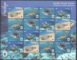 Penrhyn 2014 Micheln° 761-764 *** MNH Feuillet 4 Séries Faune WWF Turtles Schildpadden - Penrhyn