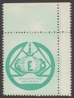ESPERANTO Self Adhesive Charity LABEL CINDERELLA VIGNETTE Hungary - Hódmezővásárhely 1975 May 11 - Not Used - Esperanto