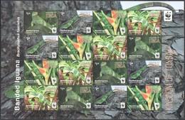 Tonga 2016 Micheln° 2102-2105 *** MNH Feuillet KB 4 Séries Faune WWF Iguana Leguan - Tonga (1970-...)