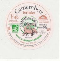 T  837 -/ ETIQUETTE DE FROMAGE - CAMEMBERT FERMIER FERME DES AULNAYS   EVRAN  22630 - Kaas