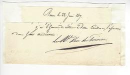 Édouard Mortier Duc De Trévise (1768 - 1835) MARECHAL EMPIRE 1817 ROUEN AUTOGRAPHE ORIGINAL AUTOGRAPH /FREE SHIP. R - Autógrafos