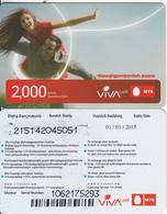 ARMENIA - Couple, VIVA/MTS Prepaid Card 2000 AMD(large Barcode), Exp.date 01/01/15, Used - Arménie