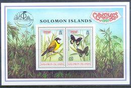 M128- SOLOMON ISLANDS 1997 Butterflies Bird Christmas BANGKOK'97. - Solomon Islands (1978-...)