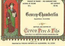 Etiquette Gevrey Chambertin Coron Pere Et Fils - Bourgogne