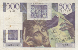 Billet 500 F Chateaubriand Du 7-11-1945 FAY 34.03 Alph. V.57 - 500 F 1945-1953 ''Chateaubriand''