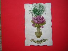 CPA  FANTAISIE AVEC DECOUPIS ETC  NE M'OUBLIEZ PAS   VOYAGEE 1907   TIMBRE - Cartes Postales