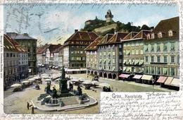 GRAZ - Hauptplatz, Uhrturm,  Verlag Stengel Dresden, 9.10.1902 - Graz