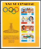 M140- Uganda 1976 Olympic Games Montreal. Joint Issue With Kenya & Tanzania. - Uganda (1962-...)
