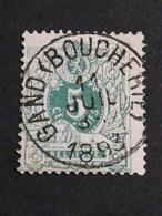 COB N °45 Oblitération Gand (Boucherie) 1893 - 1884-1891 Léopold II