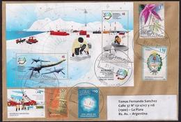 Argentina - 2018 - Lettre - Plésiosaure - Antarctopelta Oliveroi - Dinosaures En Antarctique - Argentinien