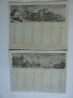 ALMANACH 1870  CALENDRIER Semestriel  Lithographie Du PORT De FLESSINGUE Et Port De Middelbourg - Calendriers